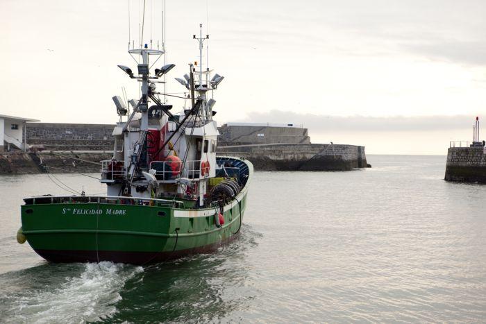 Salida de los barcos en la temporada de Anchoa del Cantábrico