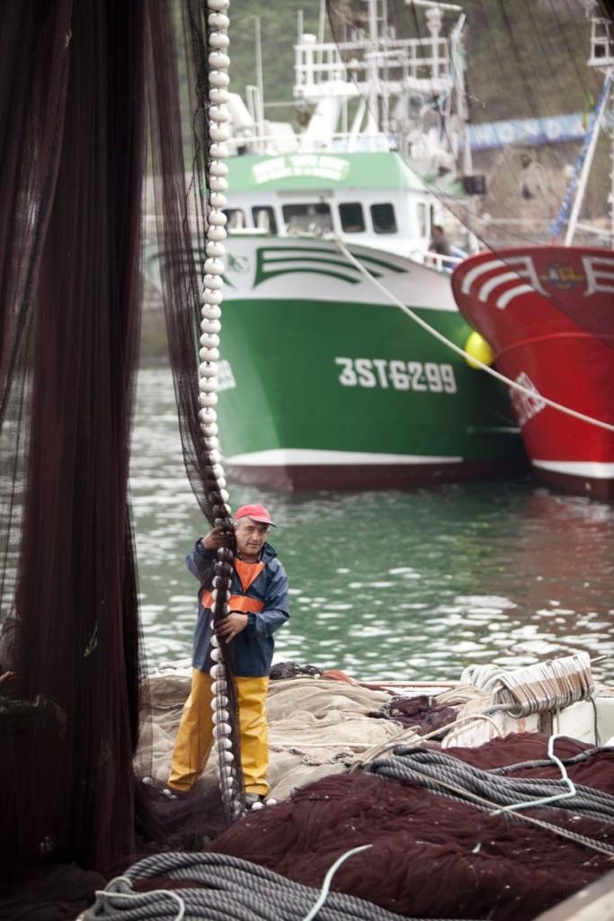 Tareas en el puerto de la Anchoa del Cantábrico