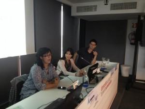 mesa de participantes en el Congreso de Productores