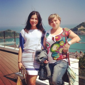 Marta Olass y Ainara Lo en el Congreso de Productores