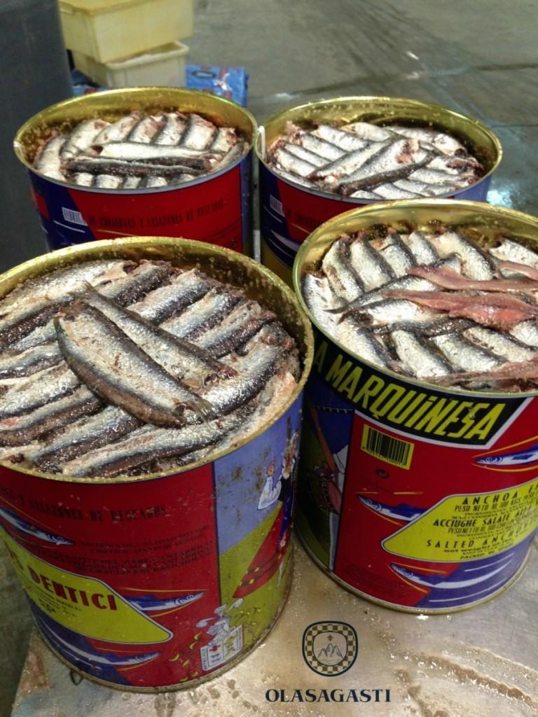 anchoa en salazón la marquinesa Olasagasti