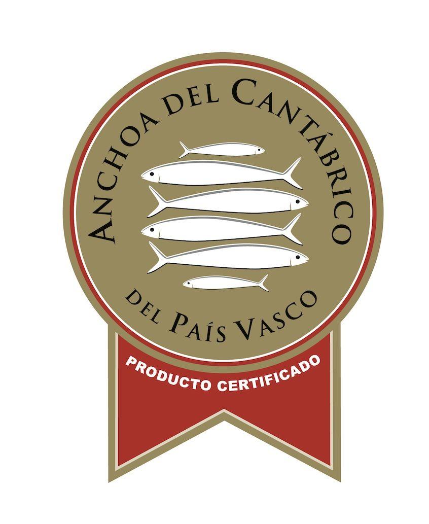 Sello de calidad de la Anchoa del Cantábrico del País Vasco