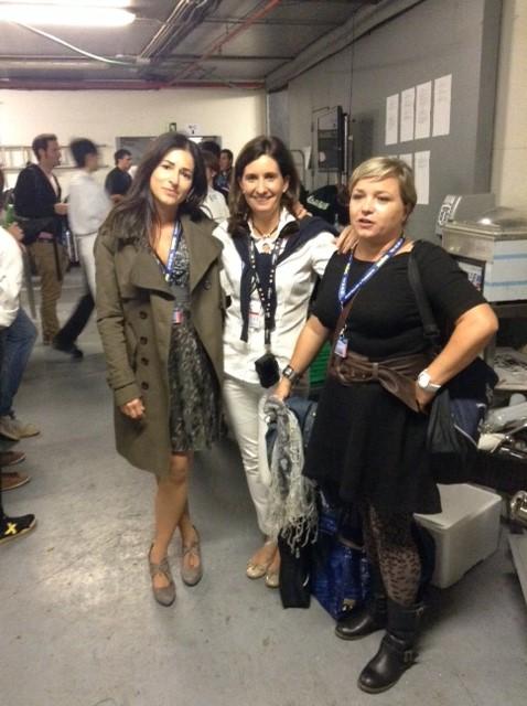 Ainara, Marta Olass y Tobegourmet en las cocinas de San Sebastián Gastronomika