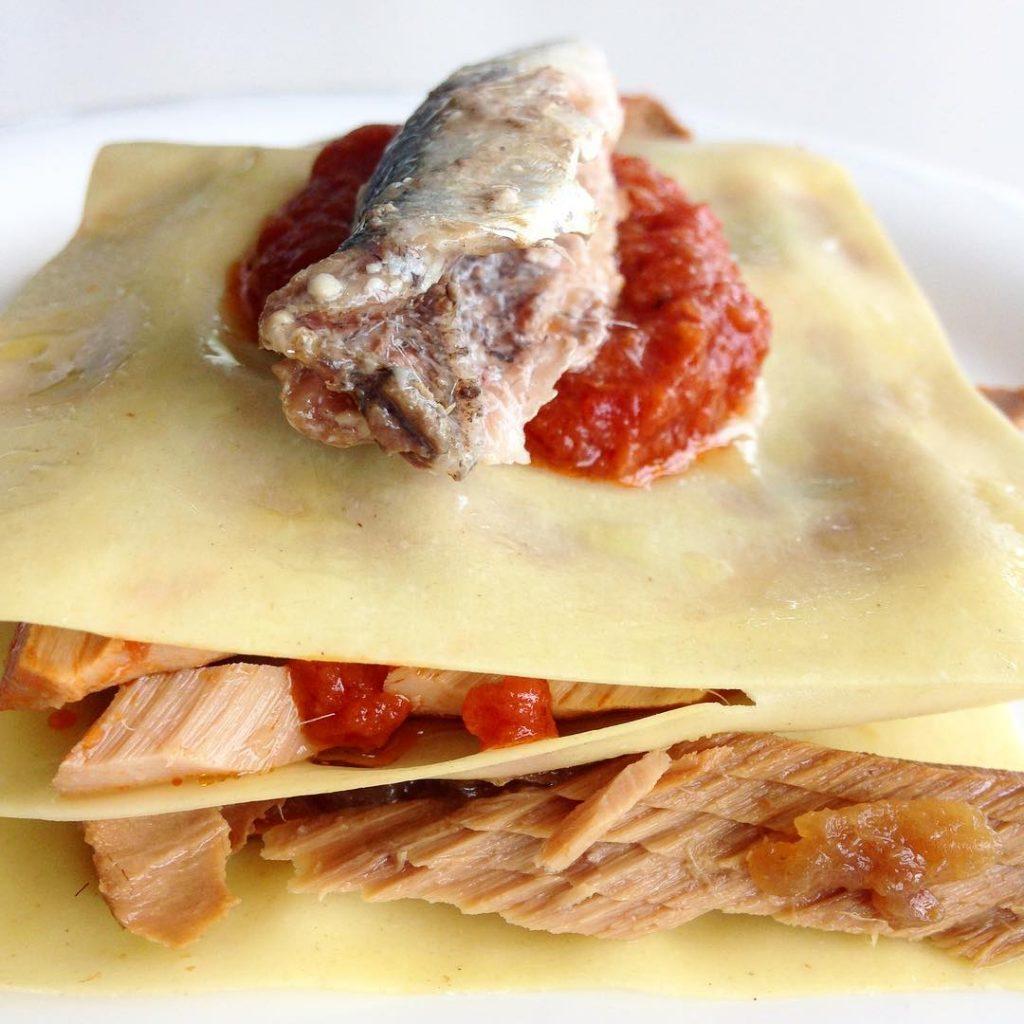 Otro concepto de montadito o lasagna ultra rpida Lminas dehellip