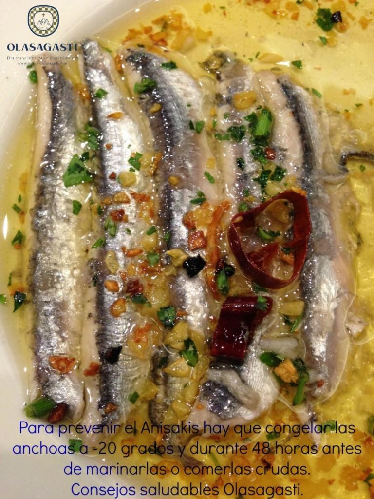Debes congelar el pescado que vas a comer marinado (crudo)