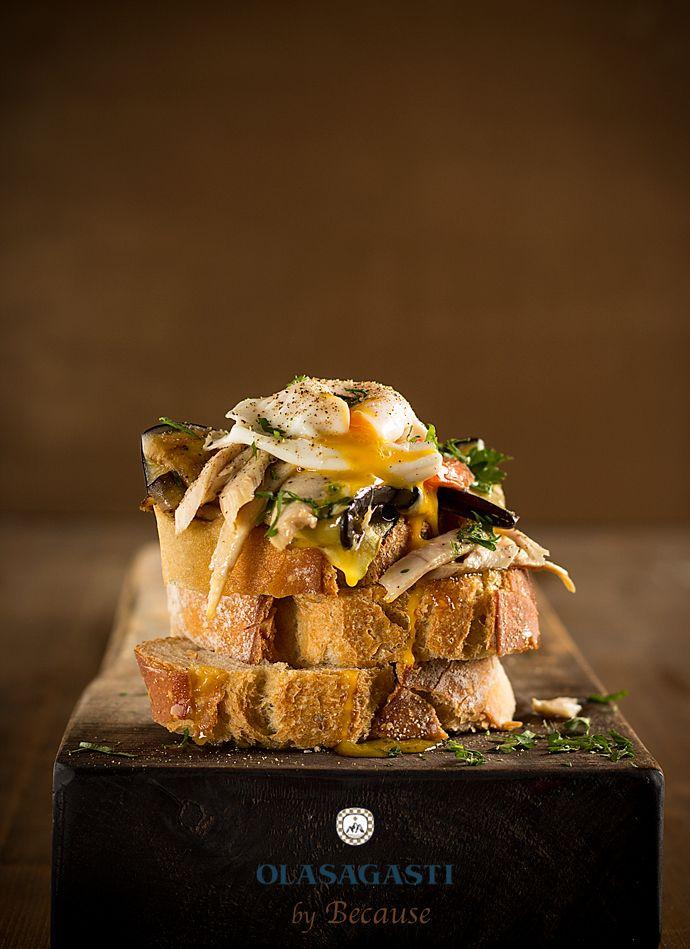 Bruschetta de ventresca de bonito del norte Olasagasti