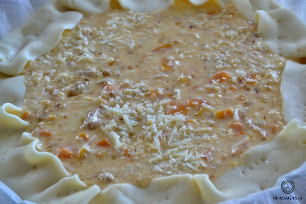 La tarta ecológica de caballa Olasagasti antes de introducirla en el horno