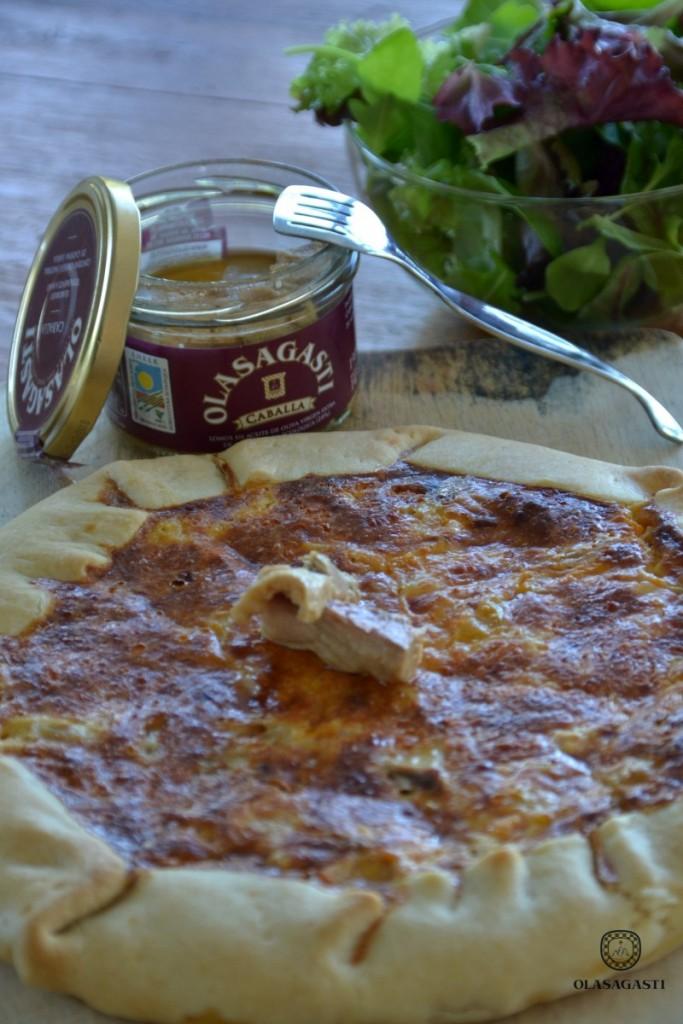 receta de tarta ecológica de caballa Olasagasti, otoñal, saludable, deliciosa