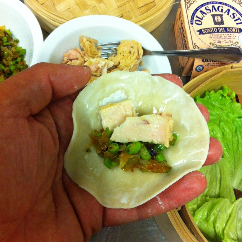 gyoza or dim sum with white tuna from Basque Country for recipes quality canned fish