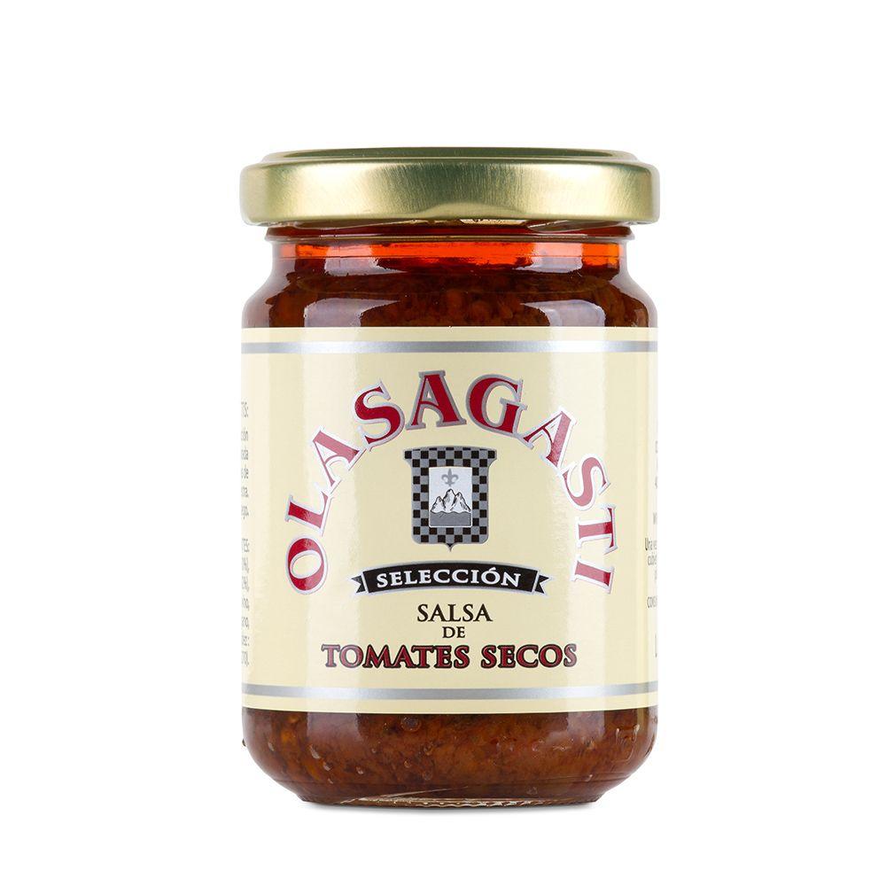 Salsa de tomates secos Olasagasti para el pan con hummus y revuelto de bonito del norte en escabeche