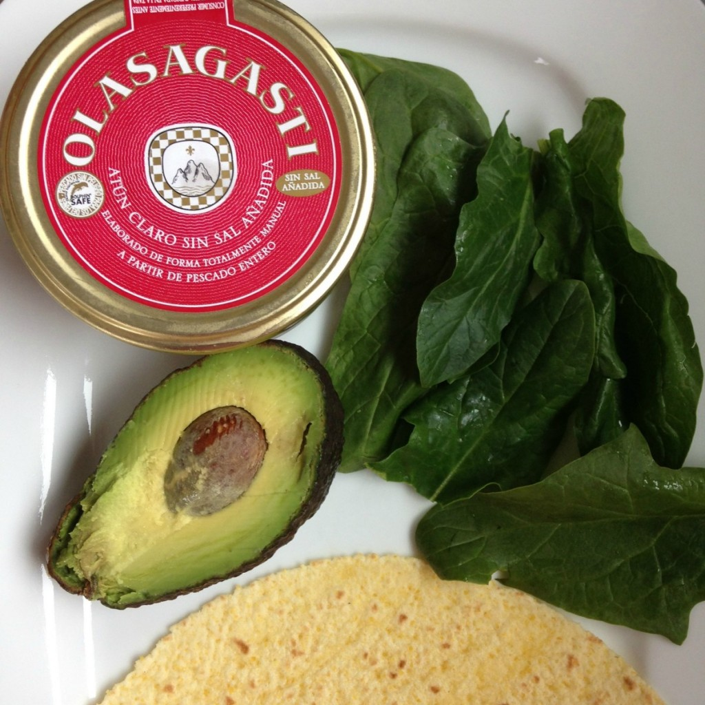 Ingredientes para preparar un talo de atún Bio Olasagasti