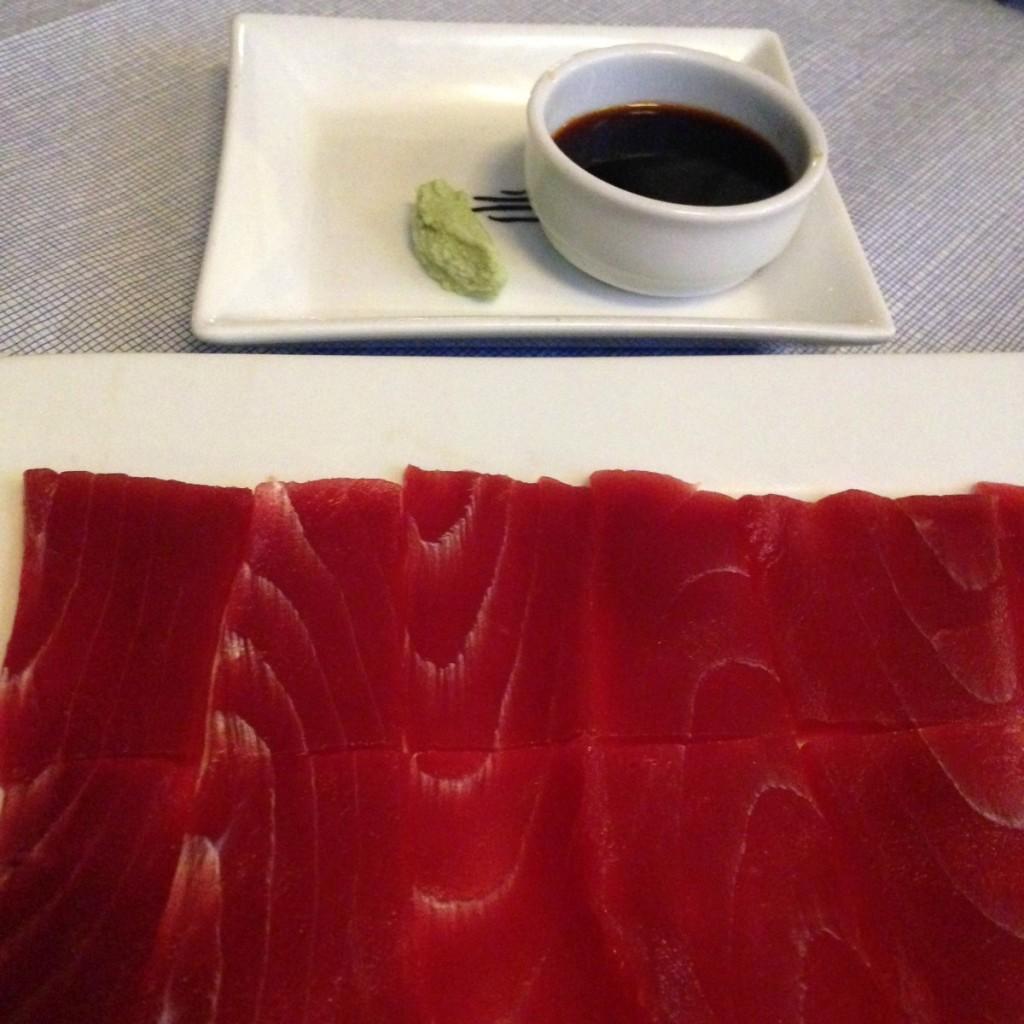 Atún rojo en el restaurante El Campero