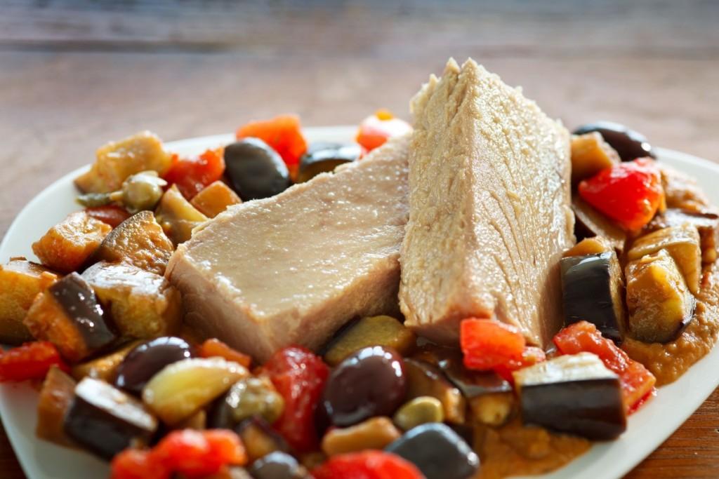 La de pisto mediterráneo, una de las nuevas recetas de atún Abrir y Zampar