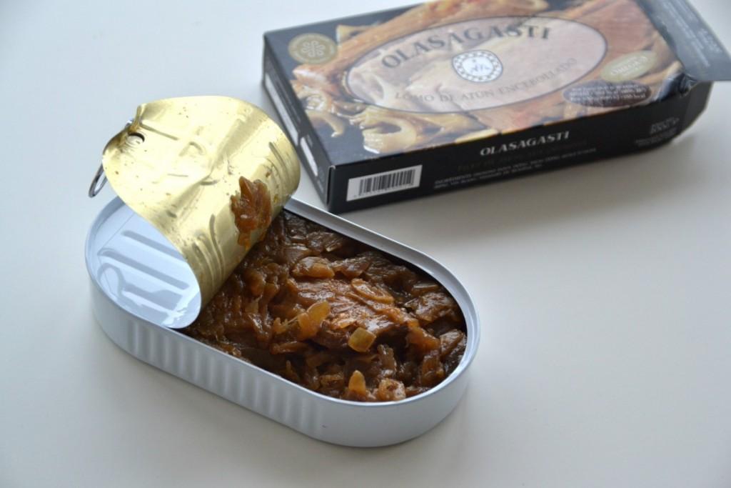 receta tradicional de lomos de atún encebollado Abrir y Zampar Olasagasti