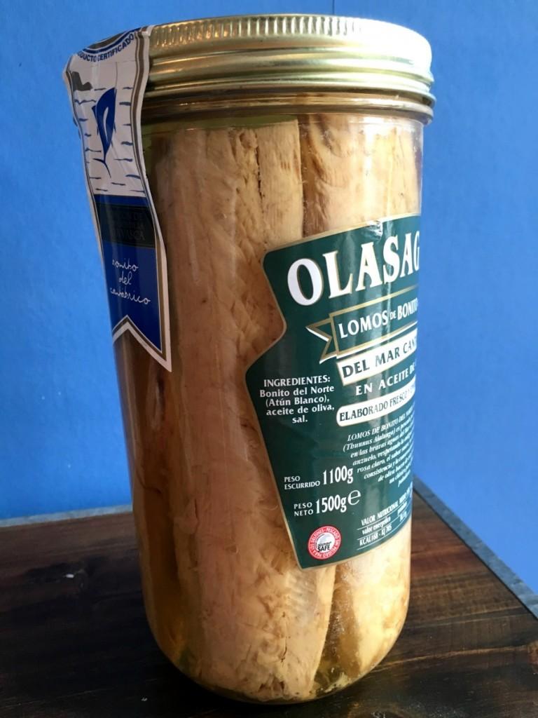 Tarro de 1600 Lomos de Bonito del Norte en aceite de oliva Olasagasti
