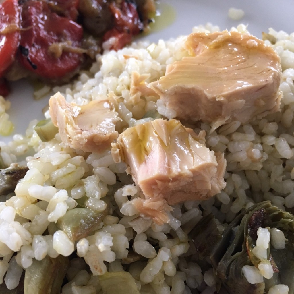 arroz con atún ecológico Olasagasti