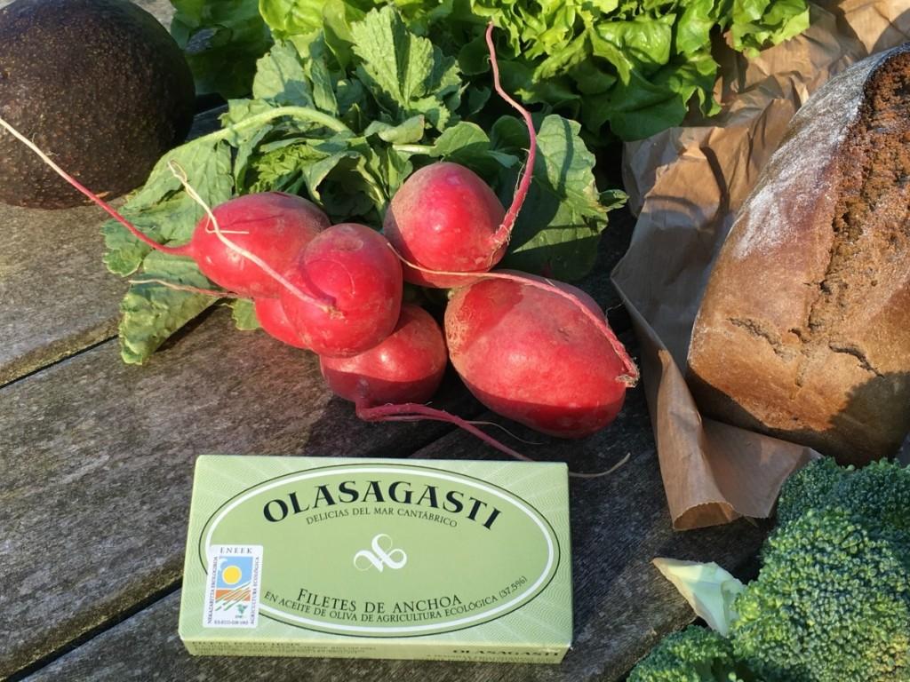 Filetes de anchoa en aove ecologico gama Bio Olasagasti
