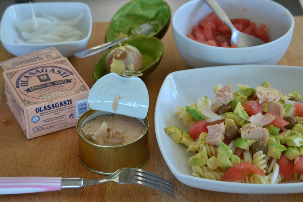 Ensalada fresca de pasta receta de mi hija blog conservas olasagasti - Platos de pasta sencillos ...