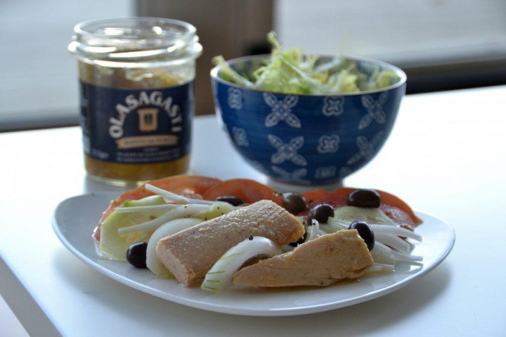 ensalada griega con bonito del norte olasagasti