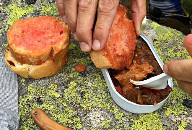 conservas en la montaña para excursionistas gourmet