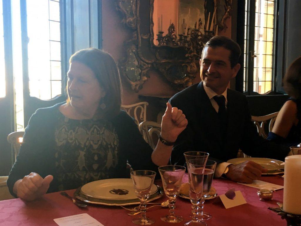 Comida tras la entrega de la Encomienda de Isabel la Católica en la Embajada