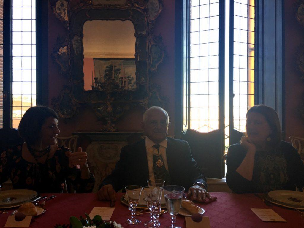 Comida tras entrega de la Encomienda de Isabel la Católica en la Embajada en Roma