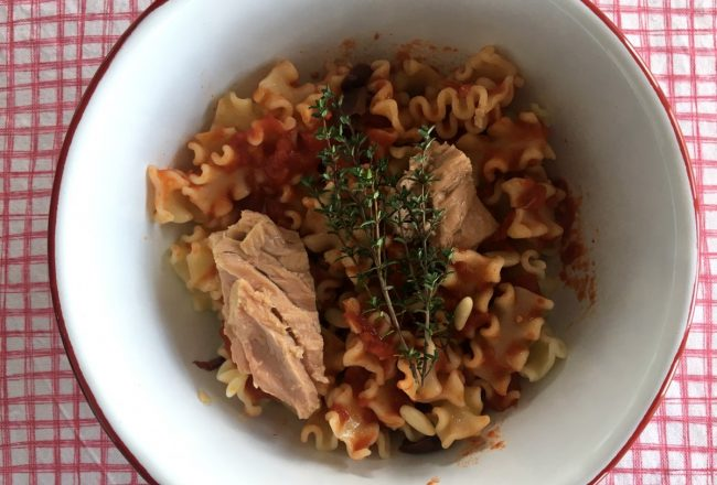 mafalde voiello pasta con tomate y atún olasagasti
