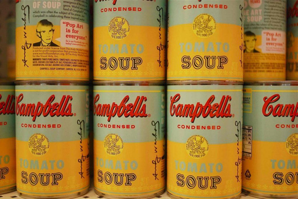 latas campbells en el origen de los tarros y latas de conserva