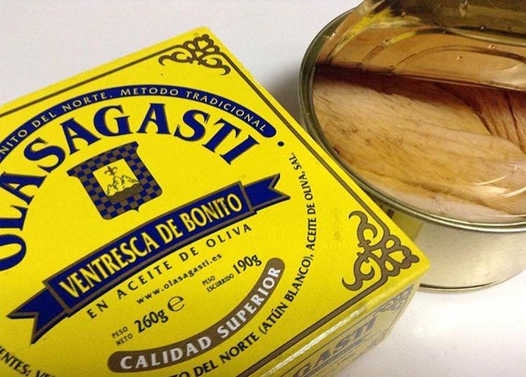 Ventresca de bonito Olasagasti en una receta para enamorar