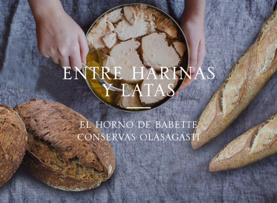 cartel entre harinas y panes Olasagasti Horno Babette