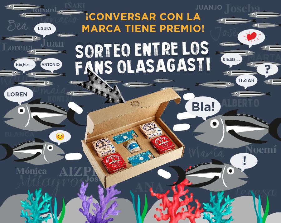 Estuche Olasagasti en el sorteo de Delicias del Mar Cantábrico
