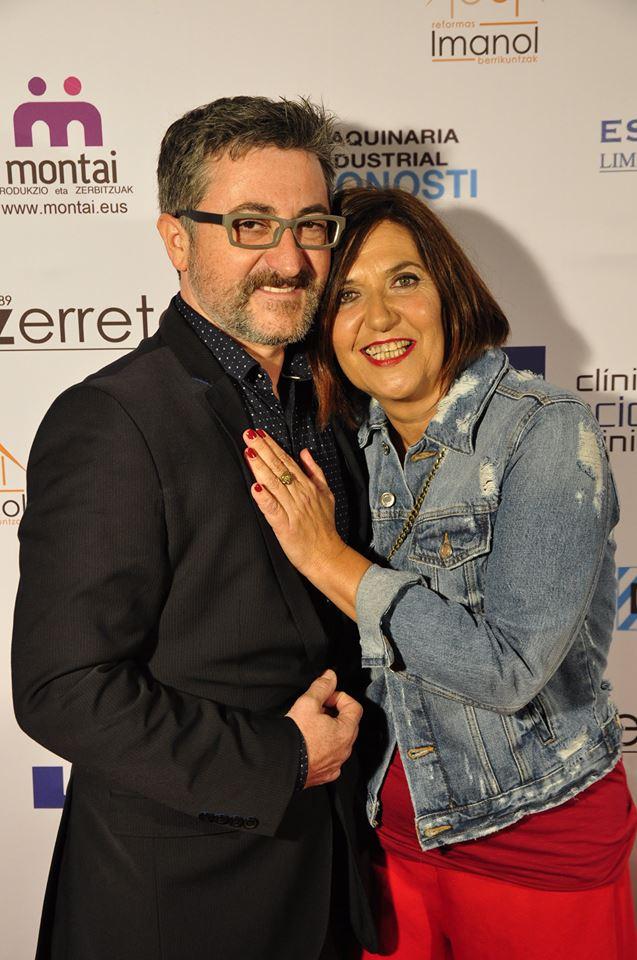 Los actores Gorka Aguinagalde y Ane Gabarain, premiados el año pasado