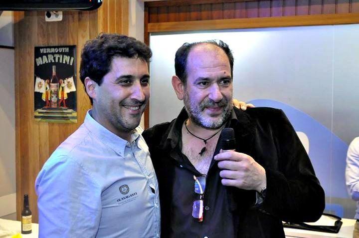 Lorentzero y Karra Elejalde en la entrega del Premio Ramón Labayen de Cine