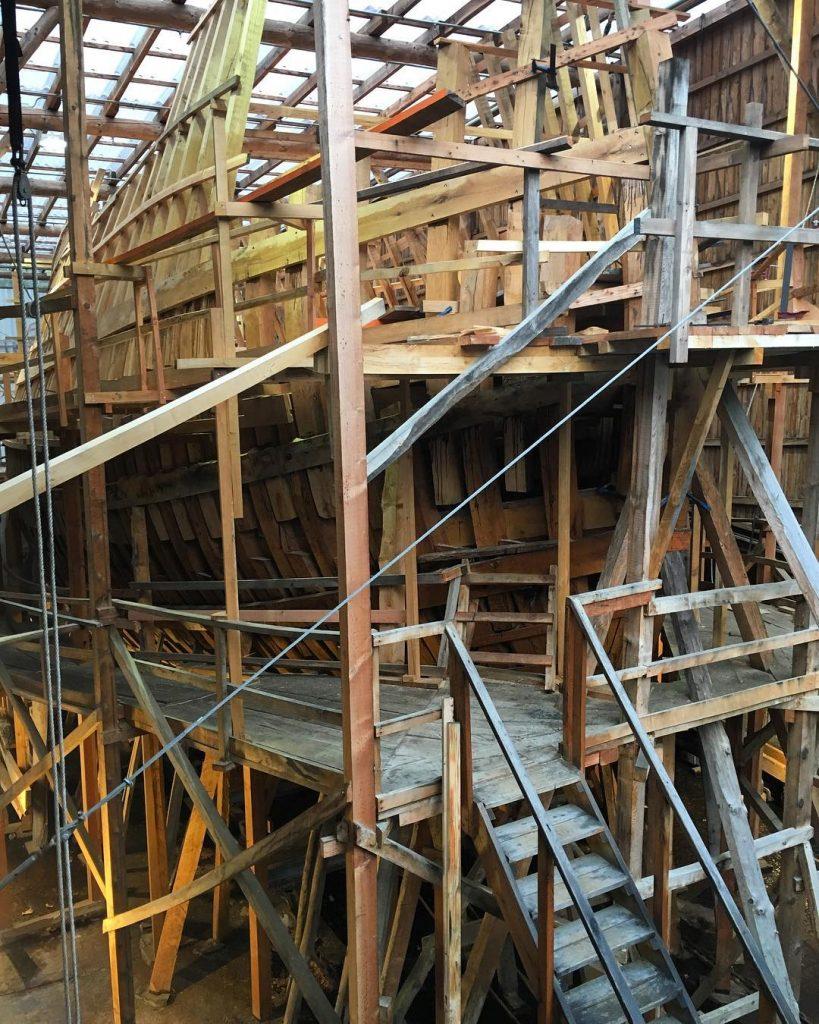 Construccin de la rplica del ballenero vasco San Juan delhellip