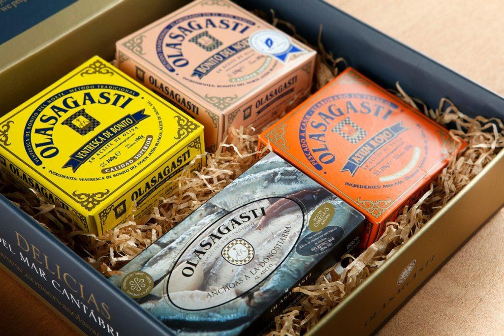 Lo mejor del Cantábrico en la caja Joya de Conservas Olasagasti