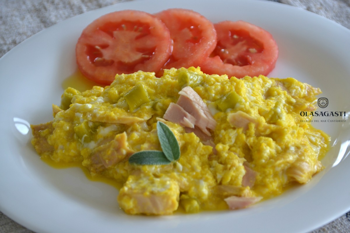 revuelto con bonito del norte olasagasti para menú del día