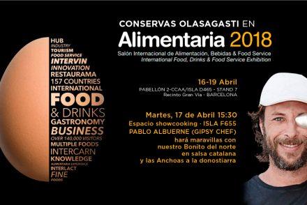 cartel alimentaria, la experiencia gastronómica con Olasagasti y Gispy Chef