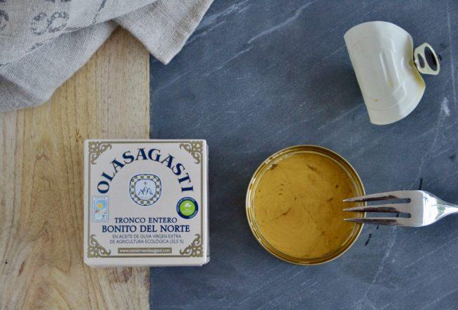 nueva lata de bonito del norte en aceite de oliva virgen extra de conservas olasagasti