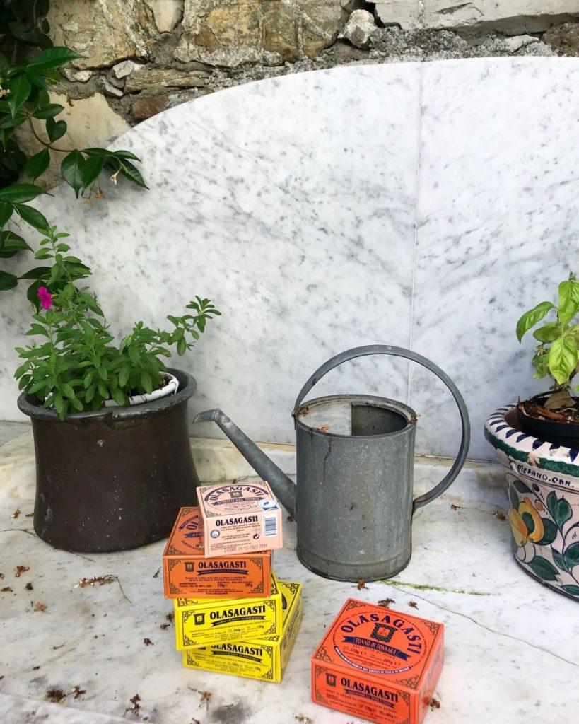 Latas de conservas Olasagasti para las comidas campestres del verano.