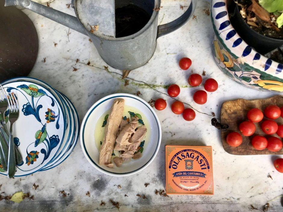 Comidas campestres con conservas Olasagasti