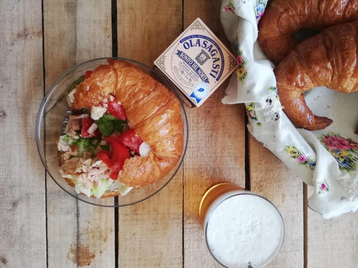 Croissant o capricho de bonito del norte Olasagasti de Gemma Biosca