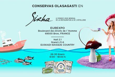 Cartel para Sirha 2019 de Conservas Olasagasti