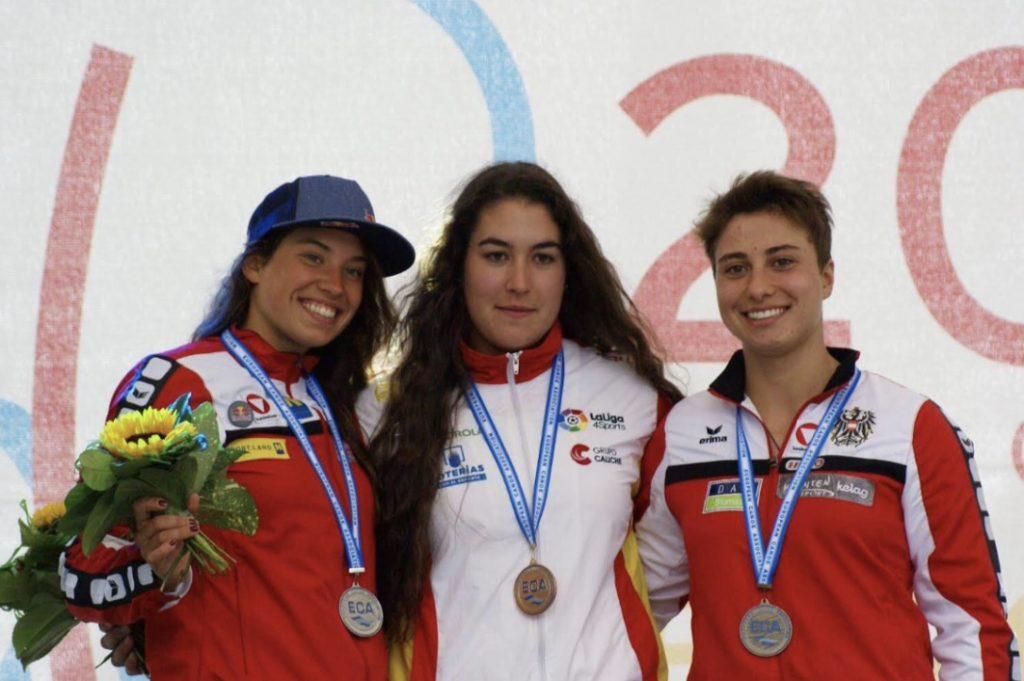 La piragüista Miren Lazkano, campeona de Europa.