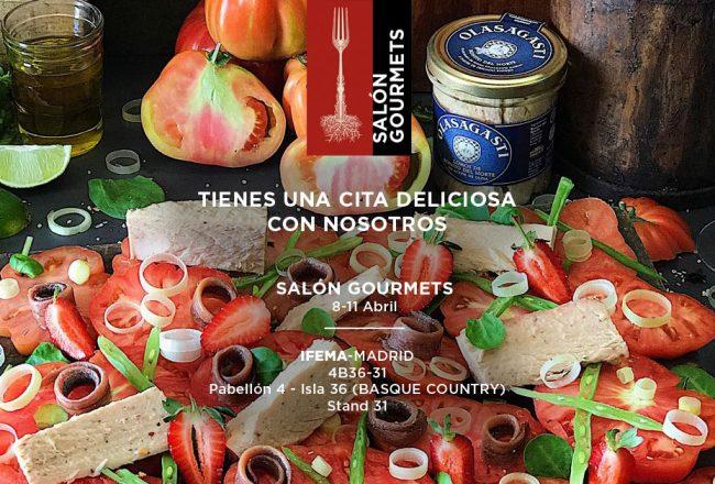 cartel de Conservas Olasagasti para el 33 salón gourmets, a través de una imagen de Laura Pons