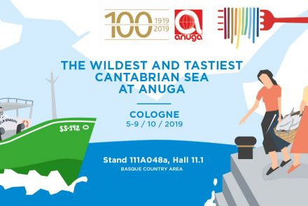 Design to announce the presence of Olasagasti at Anuga 2019.