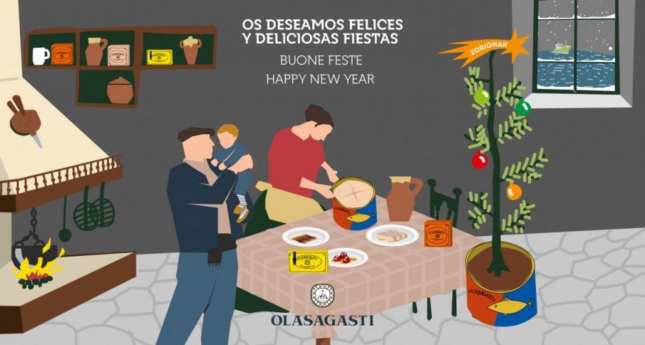 Olasagasti te desea Feliz Navidad.