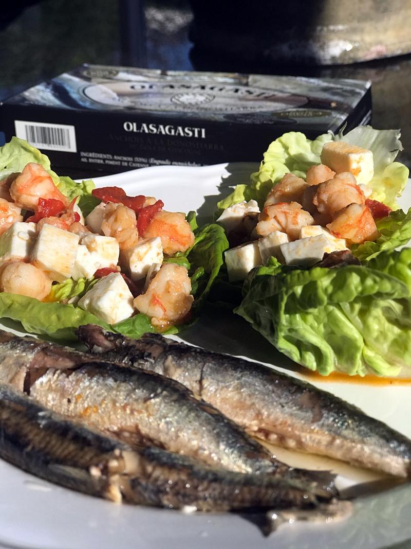 Receta saludable de cogollos rellenos y anchoas Olasagasti.