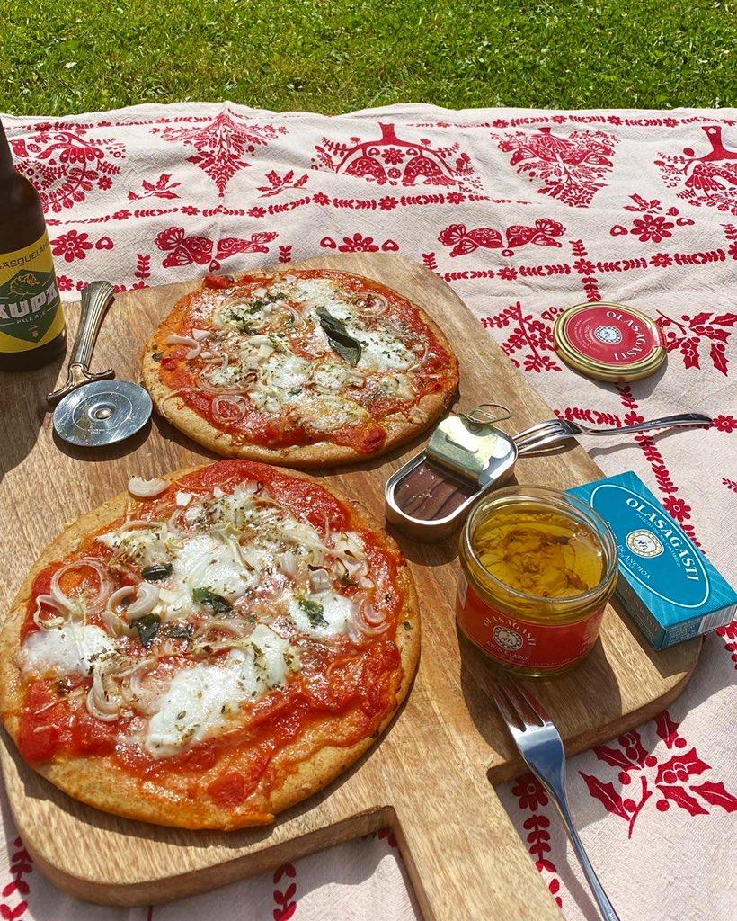 pizzas con atún y anchoas Olasagasti