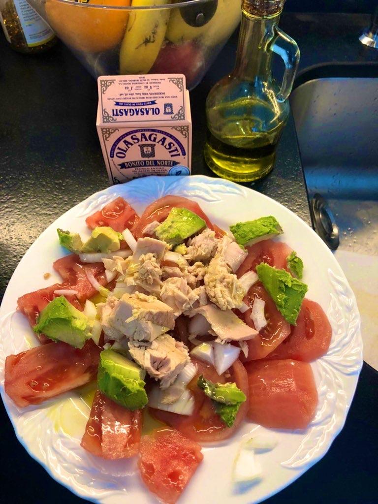 ensaladas fáciles con bonito del norte Olasagasti