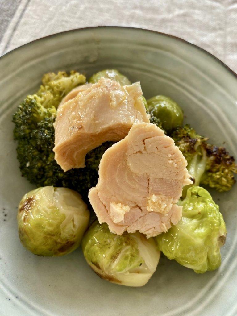 Qué delicia las verduras y bonito del norte Olasagasti: coles y brócoli
